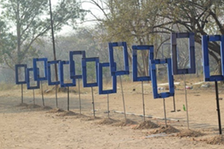 Facebook Part of 4 part installation Khidkyaa at Pune Biennale 2015